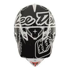 white motocross helmets troy lee designs se4 polyacrylite off road racing motorcycle mx