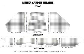 Winter Garden Theater Broadway - broadway u0027s winter garden theatre seating chart