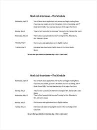 Sample Essay Question For Job Interview 10 Examples Of Interview Schedules