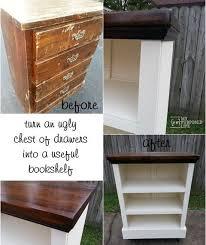How To Make A Wooden Shelf Unit by Best 25 Dresser Bookshelf Ideas On Pinterest Cheap Bookcase