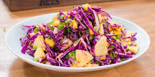 tropical slaw with sweet u0026 sour dressing recipes food network canada