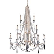 Silver Chandelier by Empire 9 Light Crystal Silver Chandelier T40 226 The Home Depot