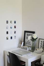 West Elm White Parsons Desk Contemporary Self Contained Study Space With Miniature Wall