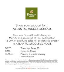 Panera Online Application Form May 2017 Quincy Public Schools