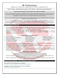 Sap Crm Resume Samples by Resume Of Sap Fico Consultant Resume For Your Job Application