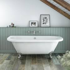 admiral 1685 back to wall roll top bath at victorian plumbing co uk