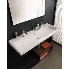 double trough style bathroom sink befitz decoration