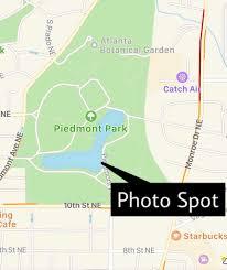Starbucks Map Piedmont Park Atlanta Map Piedmont Park Map United States Of