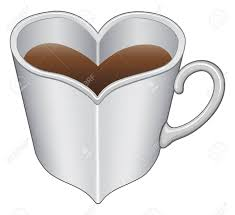 heart shaped mugs that fit together heart shaped cup or mug is an illustration expressing the
