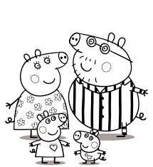 peppa pig coloring pages to print for free and color