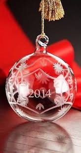 waterford s alana set of 2 ornaments glittering blown and