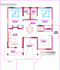 Kerala Home Design Gallery by Floor House Plan Sq Ft Kerala Home Gallery Including Design 1000