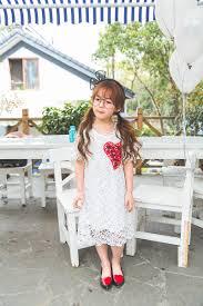 2017 2016 summer fashion children white lace dress baby girls love