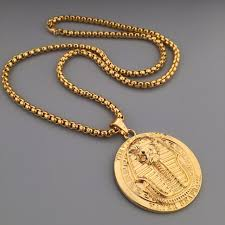 hip hop necklace charms images New golden pharaoh pendant hip hop bling tut charm thick boxing jpg