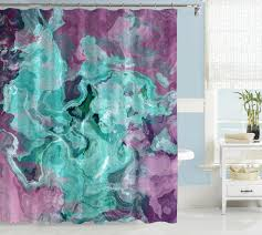 Turquoise Shower Curtain Abstract Art Blue U0026 Aqua Shower Curtains U2013 Abstract Art Home