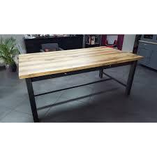 table cuisine tiroir meuble industriel table de salle 罌 manger avec tiroir et 2