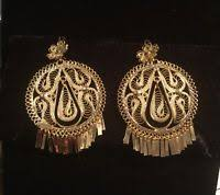 folklorico earrings mexican gold plated filigree large 2 dangle