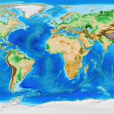 World Plate Boundaries Map by Global Topography And Tectonic Plates