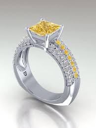 canary yellow engagement ring princess cut yellow engagement rings yellow