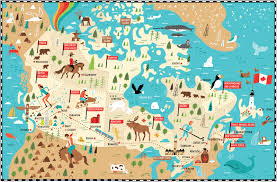 Map Of Edmonton Canada by I Draw Maps Illustrated Map Of Canada For Telegraph Uk By Nate