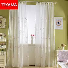 Curtains For Baby Room Pink Butterfly Window Sheer Curtains For Living Room Embroidered