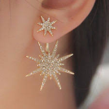 gold second studs fashion earrings ebay