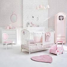 chambre bébé maison du monde lit bébé à barreaux en métal blanc cassé l 126 cm maisons du monde