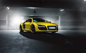 Audi R8 Front - wallpaper audi r8 yellow supercar front tuning hd picture image