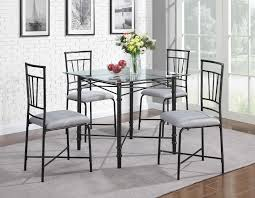 glass dining room table tops dorel home furnishings 5 piece glass top metal dining set home