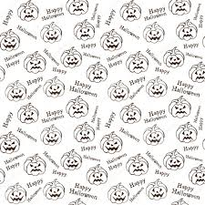 halloween black and white background halloween background with pumpkins vector pattern endless