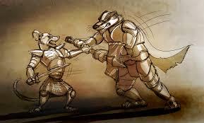 battle sketch rat vs badger by temiree on deviantart