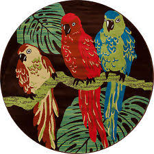 Round Tropical Area Rugs Living Room Round Tropical Area Rugs Ebay