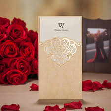 creative wedding invitations handcraft gold color wedding invitations creative wedding cards