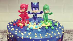 pj masks cake birthday party compilation children learn