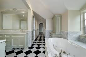 simple black and white checkered bathroom tile for interior home