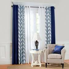 Navy Blue And White Striped Curtains Navy Blue Curtains Home Fashions Irongate 84inch Insulated