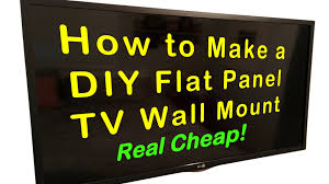 tv wall panel easy diy wall mount for flat panel tv for around 5 youtube