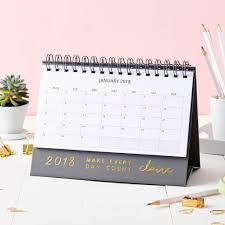 personalised every day 2018 desk calendar gifts