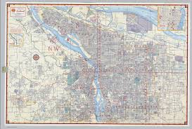 Portland Traffic Map by Shell Street Map Of Portland David Rumsey Historical Map Collection