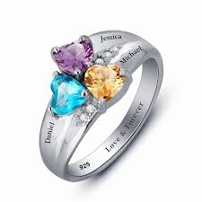 s day birthstone rings mothers rings personalized birthstone family ring 925 sterling