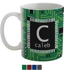 circuit board coffee mug personalized youcustomizeit
