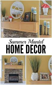 summer mantel decor ideas pink and teal accents