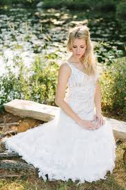 Outdoor Wedding Dresses Family Style Weekend Wedding