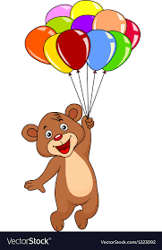 teddy balloons teddy with balloons royalty free vector image
