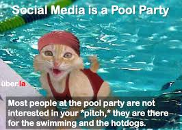 Agenda Meme - social media is pool party drop the agenda uber la