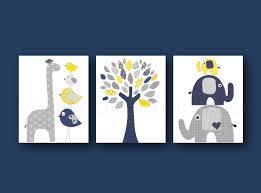 Baby Boy Nursery Wall Decals by Navy Blue Yellow And Gray Nursery Art Print Baby Boy Room Decor