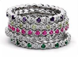 best 25 rings ideas on stackable birthstone