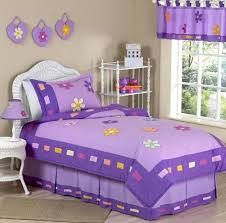 bedroom fascinating white and purple kids bedding set featuring
