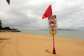 Beach Red Flag Red Flag Warning Posted From Fire Department For Dangerous