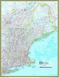 New England States Map New England Atlas Wall Map Maps Com